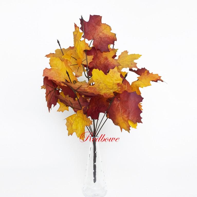 Ветки клена Осень оранжево-красные Б384