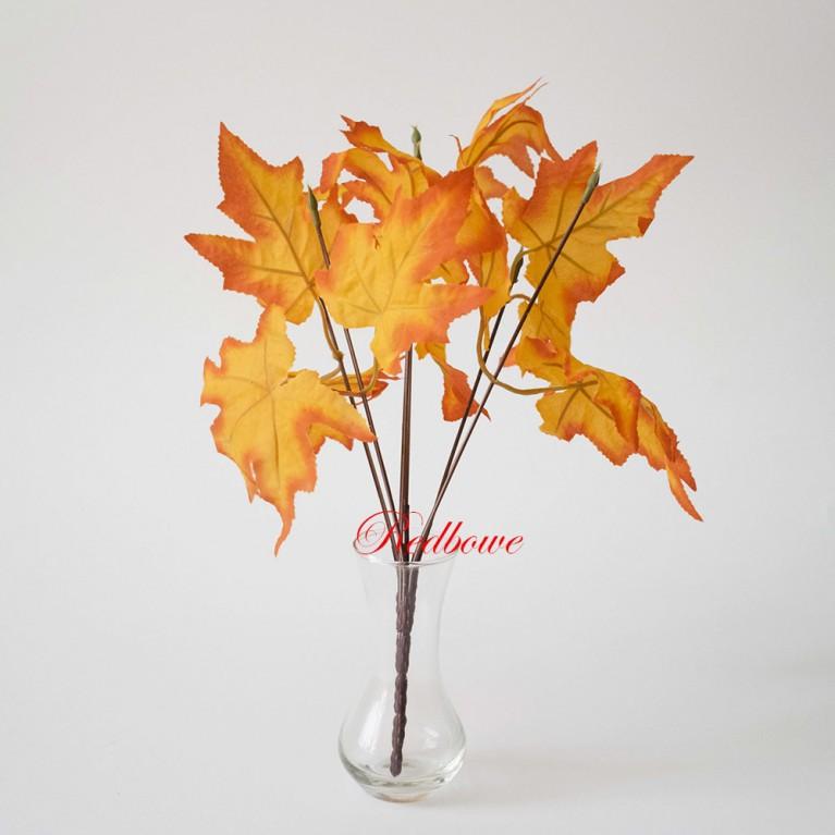 Осенние ветки клена малые оранжево-красный канадский клен Б385