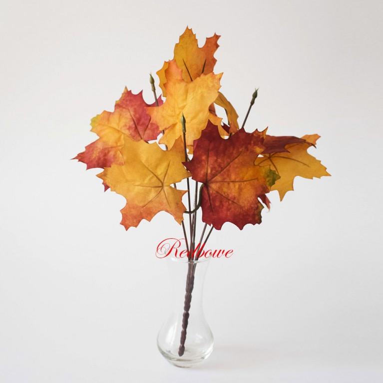 Осенние ветки клена малые красно-оранжевые Б385