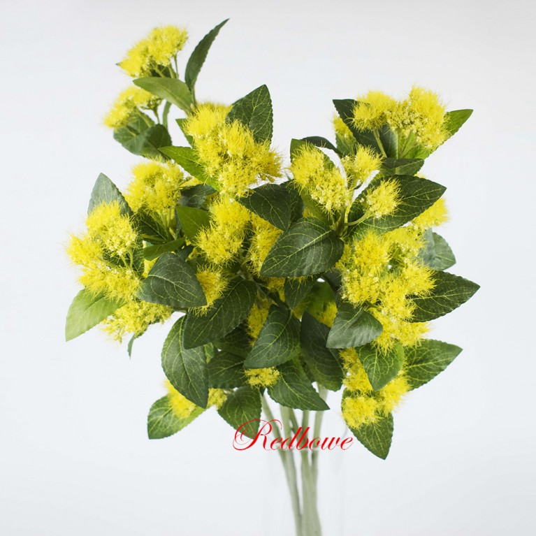 Ветка с желтыми соцветиями Б395