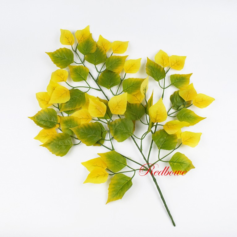 Ветка березы желто-зеленая Б460