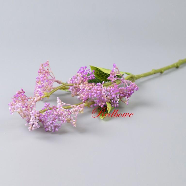 Ветка с розовыми ягодами Б412