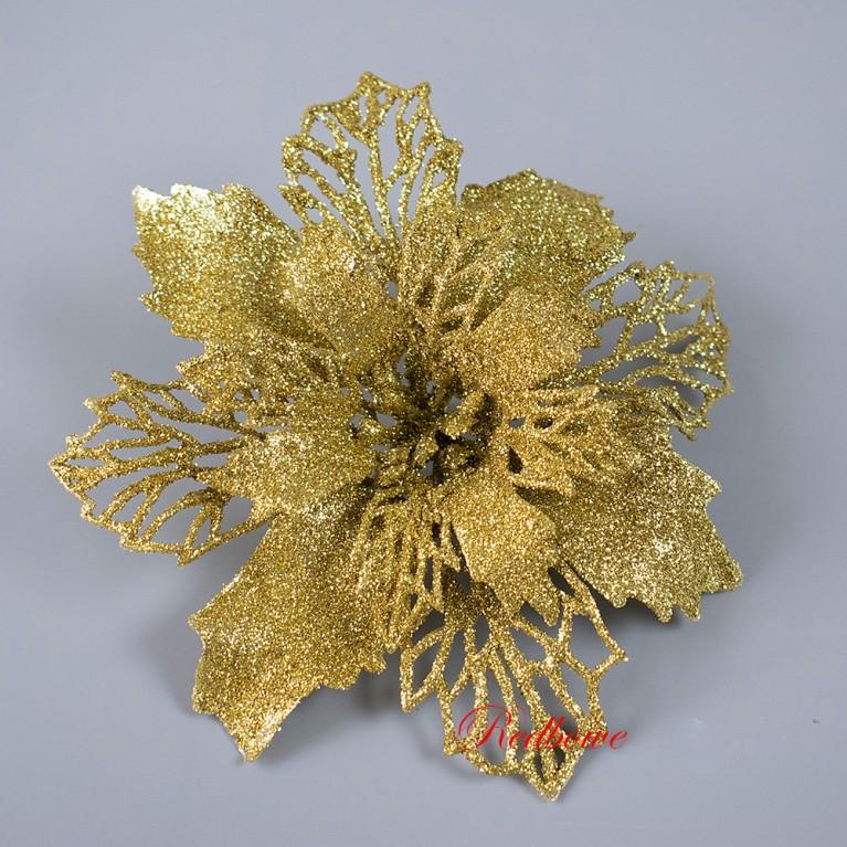 Пуансетия (головки)  золотая Г134