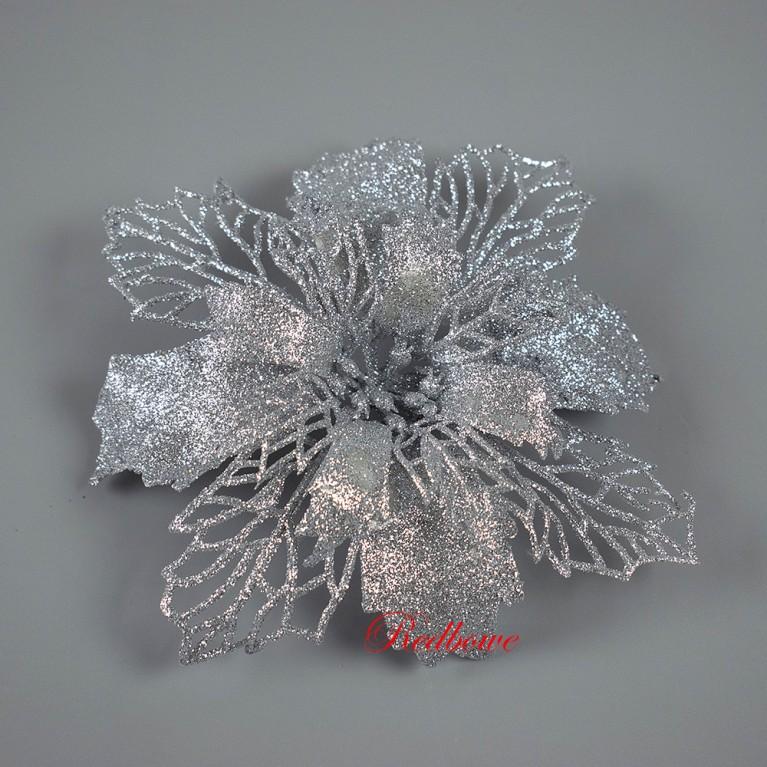 Пуансетия (головки) серебряная Г134